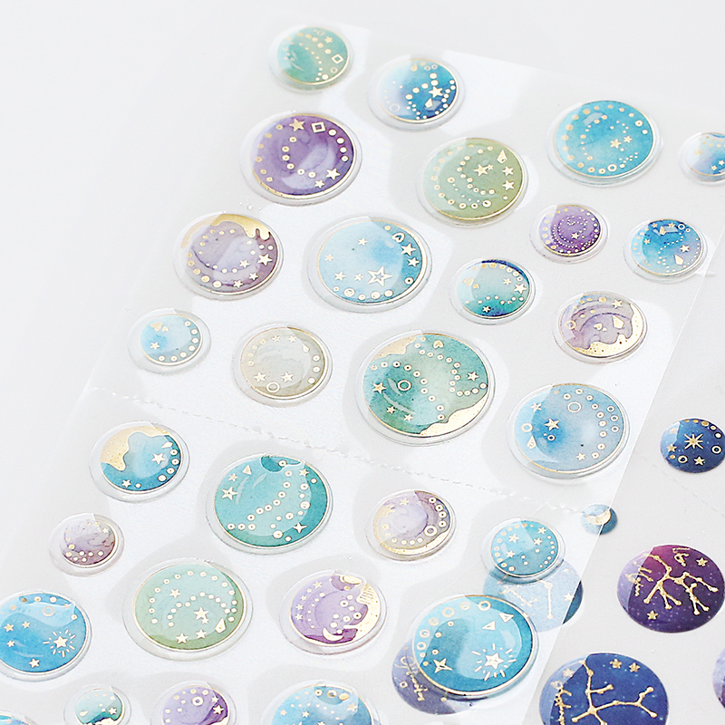 Creative Constellation  Decorative Stickers Diary Sticker Scrapbook Decoration PVC Stationery DIY Stickers School Office Supply