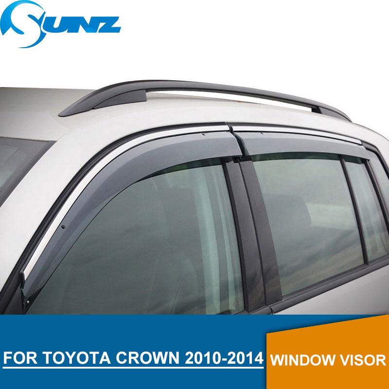 Weather Shields for TOYOTA CROWN 2010-2014 side Window Visor deflectors rain guards SUNZ