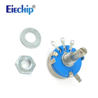 100pcs WH5 1A 3 Terminals 4mm Round Shaft Rotary Taper Carbon Potentiometer 470 1K 1 5K