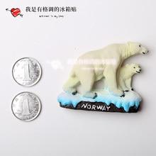 Norway polar bear souvenir refrigerator stickers