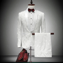 Suits Men Designers 2019 Latest Coat Pant Designs White Wedding Tuxedos For Slim Fit Mens Printed Singer Jaket 86600