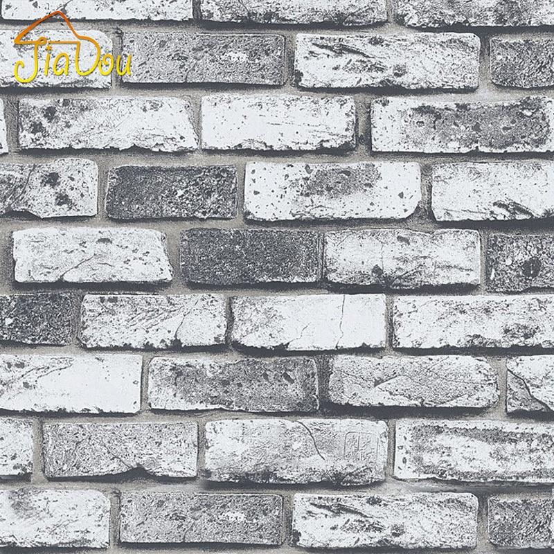 Ladrillo de piedra de poca moderna sala de vinilo for Papel mural tipo piedra