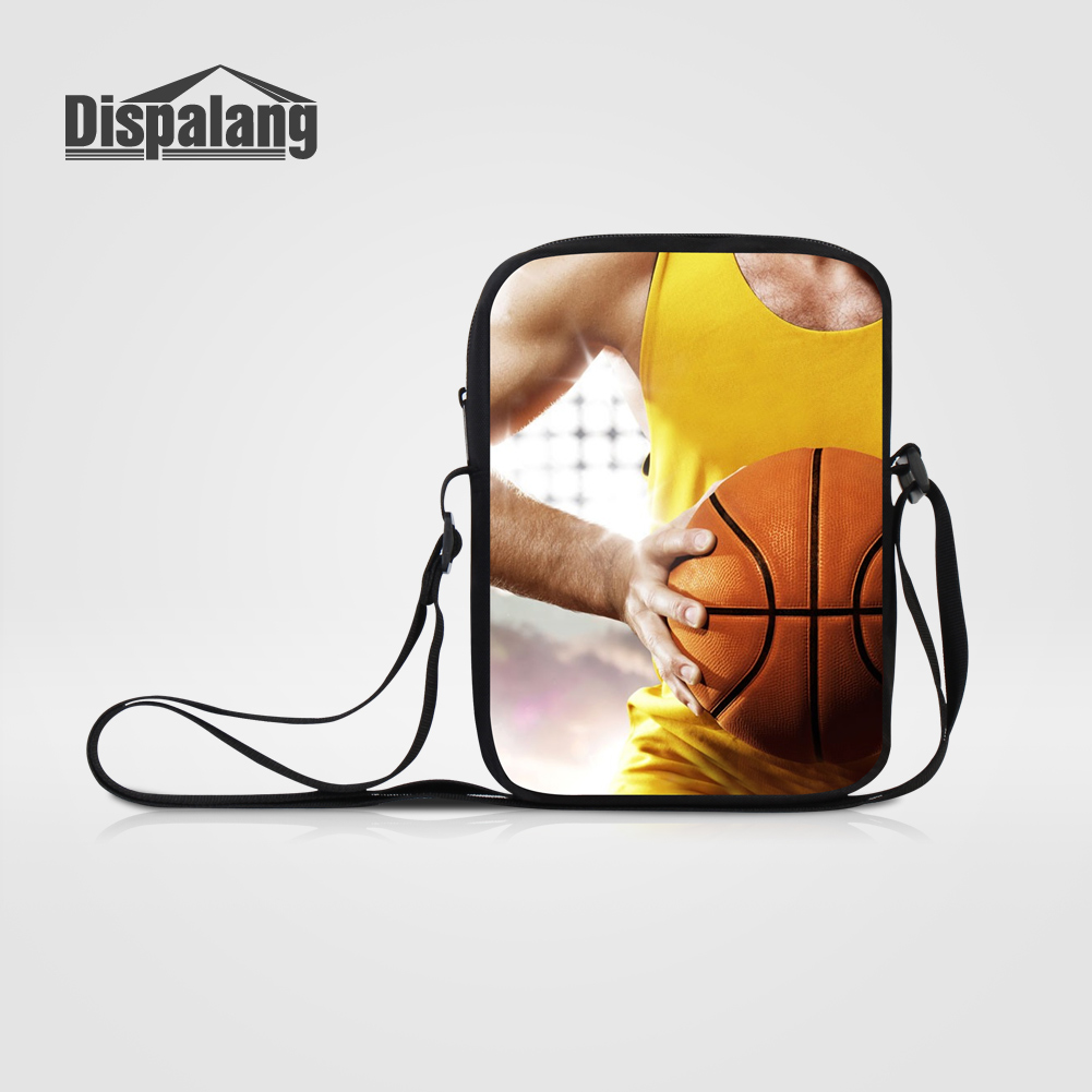 Dispalang Brand Designer Mini Messenger Bags For Men Business Travel Bag Personality Basketballs Design Satchel For Teen Mochila Preventing Hairs From Graying And Helpful To Retain Complexion Engagement & Wedding