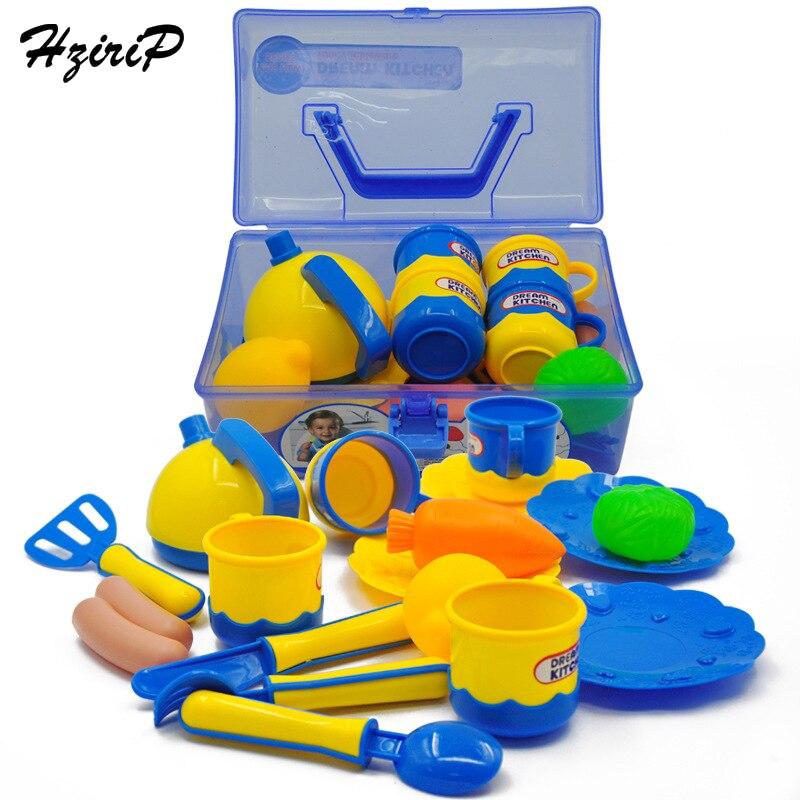 HziriP bébé Portable boîte couverts ensemble Simulation cuisine jouets Simulation en plastique fruits légumes développement précoce éducation jouet