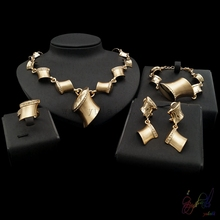 Yulaili gold/sliver two select for women geometric taste four jewelry sets in party show with vintage feelings