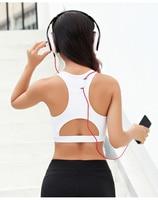 Freeskin New 2017 Women Yoga Bra Top Padded Running Sports Bra Hollow Out Sport Top Fitness