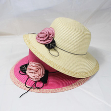 SUOGRY 2019 New Summer Women Flower Sun Hat Vintage Fashion Casual Panama Beach Female traval Visor Straw hats