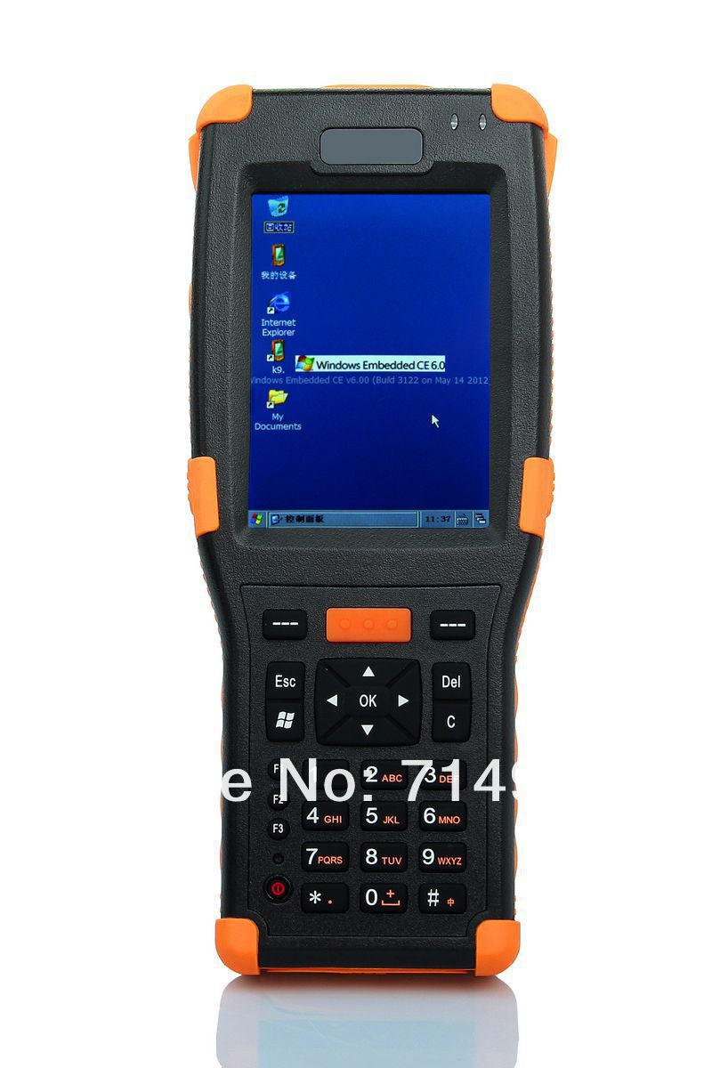 Windows CE 6.0 OS Rugged PDA support WIFI+bluetooth+1D/2D (Symbol SE4500) Hardware decoding barcode scanner (HT368) цена