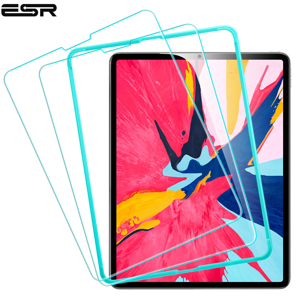 ESR Screen Protector for iPad Pro 11 2018 Free Applicator Tempered Glass Film Tablet Screen Protector for iPad 2018 New releaseESR Screen Protector for iPad Pro 11 2018 Free Applicator Tempered Glass Film Tablet Screen Protector for iPad 2018 New release