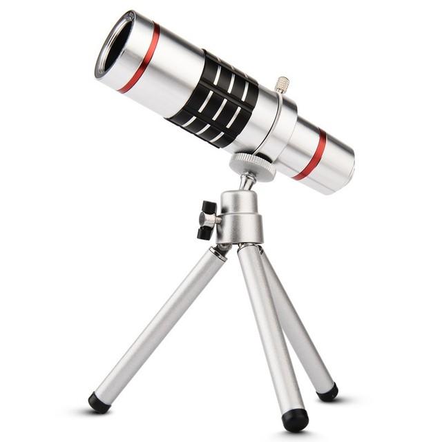 Universal 18x de zoom de la lente de cámara del telescopio del teléfono móvil teleobjetivo lupa lente óptica para iphone samsung sony lg huawei oppo