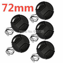 10pcs/lot 72mm center pinch Snap on cap cover for camera 72 mm Lens