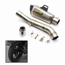 Full Exhaust System Akrapovic Modified Motorcycle Scooter Exhaust Pipe Muffler & Mid Pipe For Kawasaki Z800 2013 2014 2015 2016