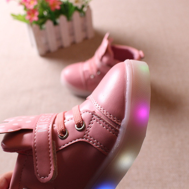 Led Luminous Sneakers Kids Light Up Shoes