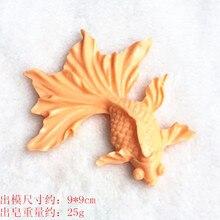 3d goldfish handmade soap mould chocolate cake making mold aromatherapy gypsum craft fish silicone molds