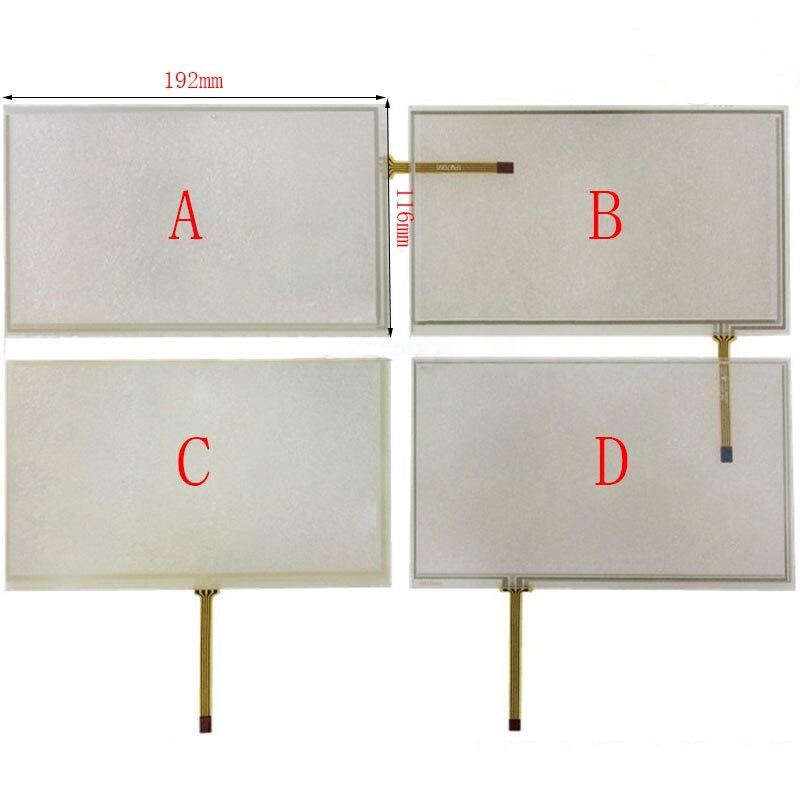 192*116 4 Fil Résistif 8 pouce Écran Tactile Panneau pour HSD080IDW1 AT080TN64