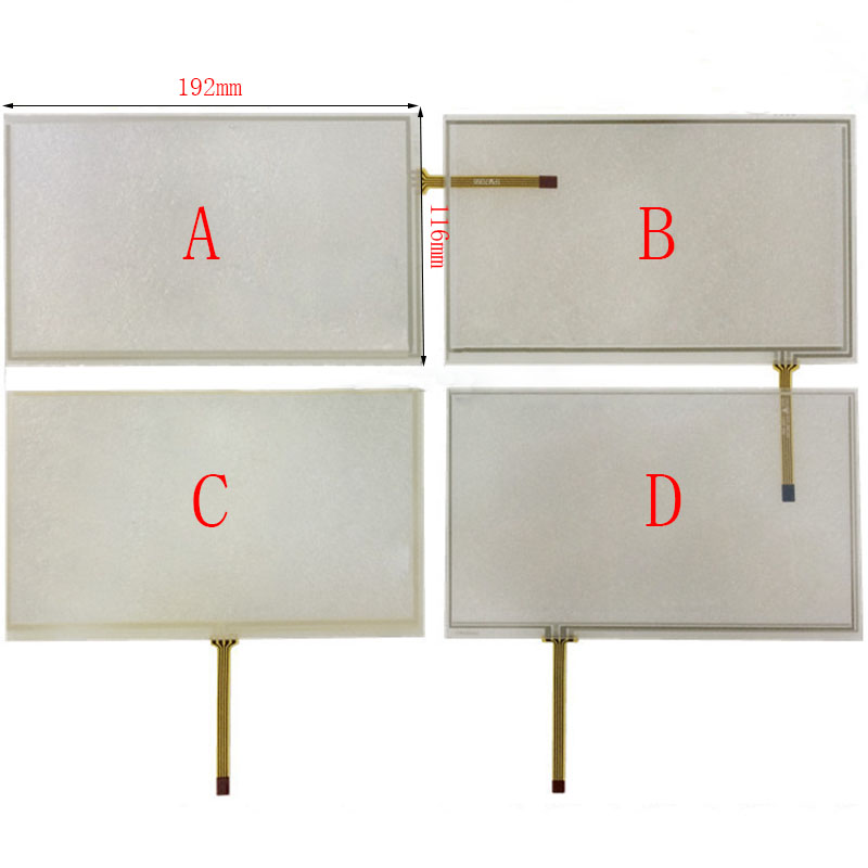 192*116 4 Wire Resistive 8 Inch Touch Screen Panel for HSD080IDW1 AT080TN64 new 8 4 inch 190x142 4 wire touch screen glass