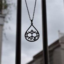 Купить с кэшбэком 4 Colors New Molecule Necklace Scent of Rain - Chemistry Necklace Graducation Jewellery Necklace