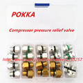 Frete Grátis, válvula de alívio de pressão do compressor de ar condicionado Automotivo Compressor de 20 peças uma caixa à prova de explosão-válvula