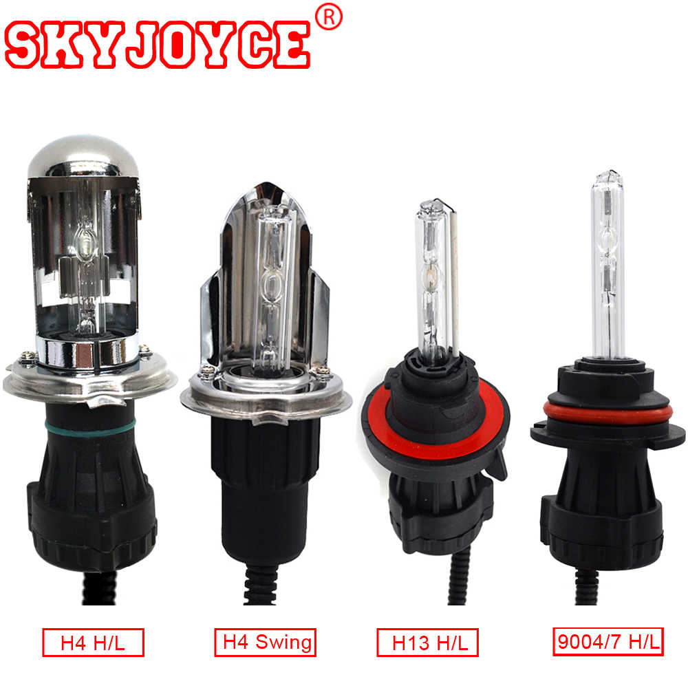 SKYJOYCE AC HID Bulb H4 bixenon 5000K H13 9004/7 35W 55W H4 Swing 6000K H4 kit 3000K Yellow 4300K Car Styling Headlight
