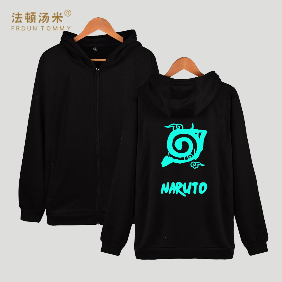 LUCKYFRIDAYF Naruto Hooded Hoodies Women/Men Zipper Winter Classic Japan Anime Coat Fashion Cartoon Sweatshirt Men Funny Clothe