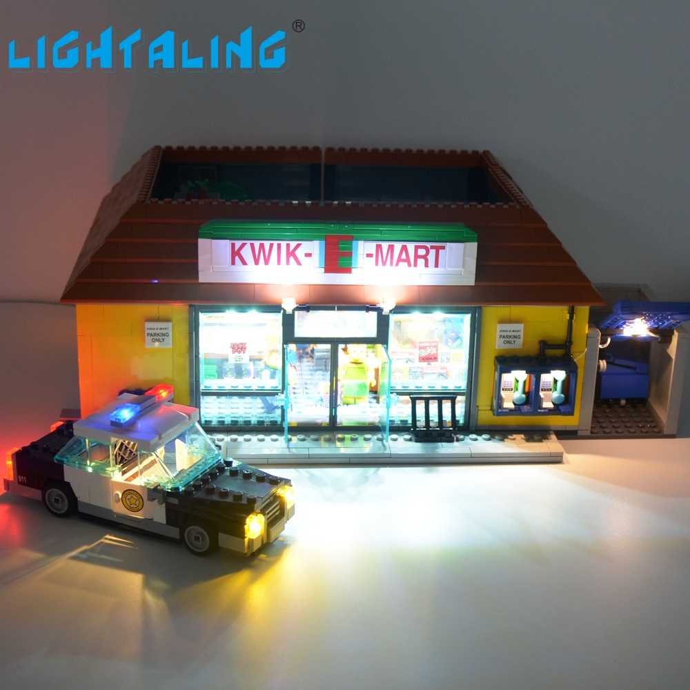 Lightaling Led Light Set For The Simpsons Kwik-E-Mart Lighting Kit Compatible With  71016 Building Block Toy