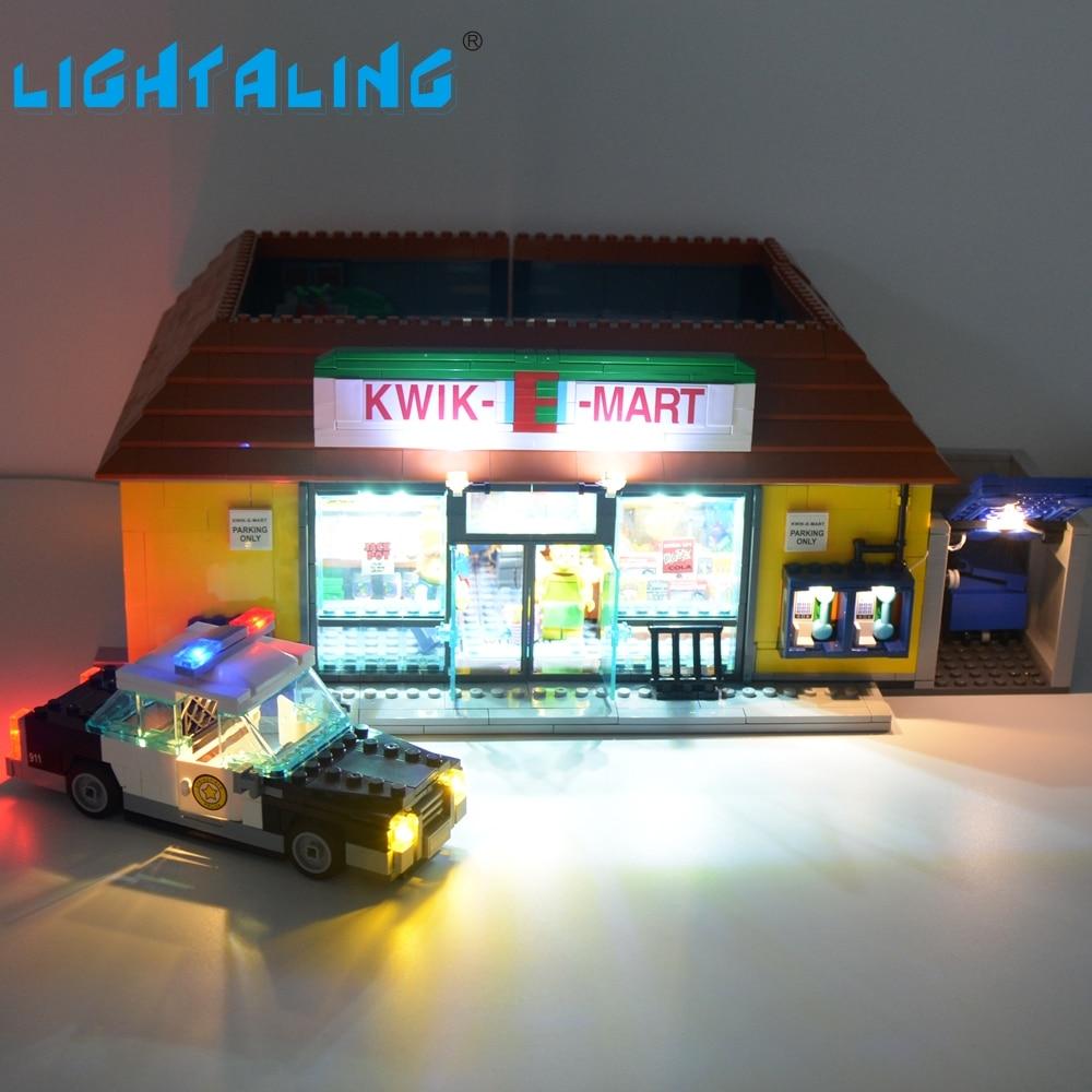 Lightaling Led Lumière Ensemble Pour Le Simpsons Kwik-E-Mart Éclairage Kit Compatible Avec Lego 71016 Building Block 16004 Jouet