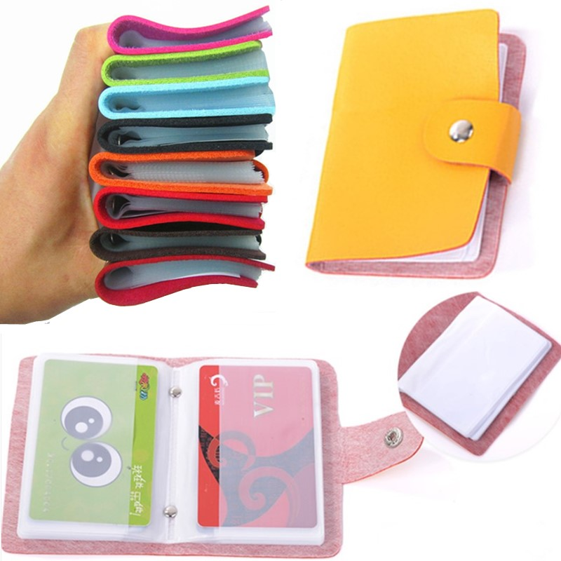 Wallet Case-Box Organizer Package Card-Holder Credit-Card 24-Card-Pack Business ID Vintage