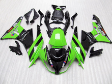 7 prezenty + Zielony czarny fairings dla Kawasaki Ninja ZX 6R 2009 2010 2011 ZX-6R ZX6R 09 10 11 09 10 11 Fairing zestawy Darmowe niestandardowe