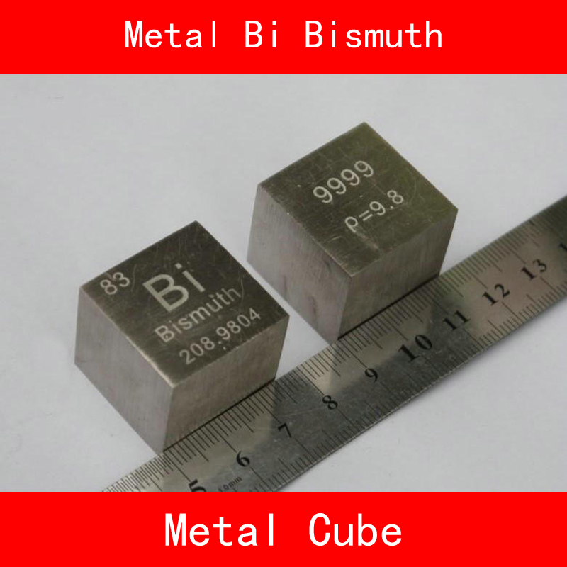 Bi Bismuth Cube Block Pure 99.99% 10mm or 1inch Cut Periodic Table of Metal Elements for Research Study Education Collection bismuth glass sealed high purity bismuth metal bismuth block 4n bi 99 99% 10g