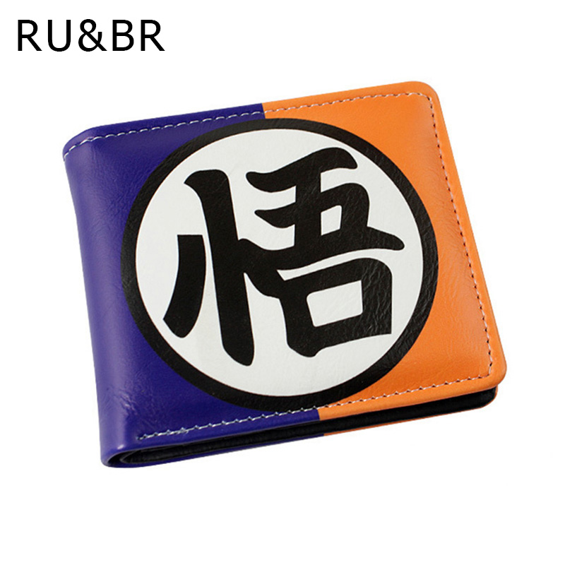 RU&BR New Fashion Cartoon Men Wallets Short Design PU Leather Money Bag Wallet 2 Folds Business Purse ID Holder For Man Clutch