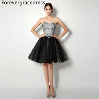 Forevergracedress 2018 Real Photos A Line Cocktail Dress Sexy Sweetheart Beaded Sleeveless Short Evening Party Gown Plus Size