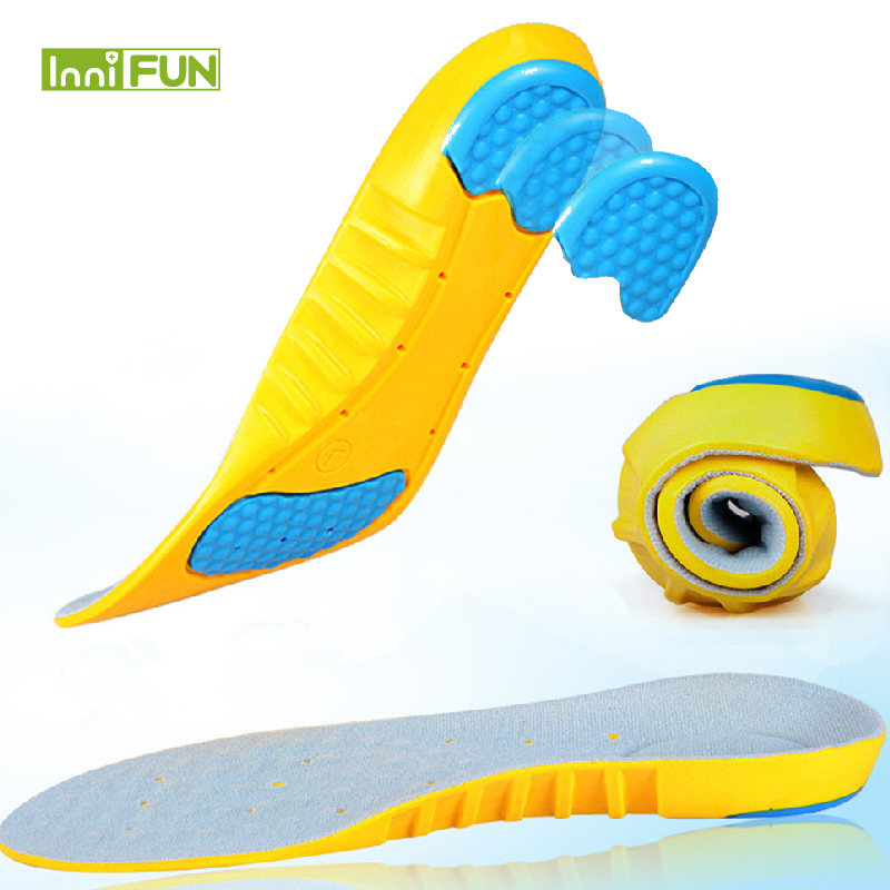1 Pair High Quality M Size Memory Foam Orthotics Arch Pain Relief Support Shoes Insoles Insert Pads Soft Foot Care Tool