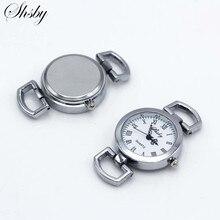 Shsby Diy личность серебряные часы Заголовок римскими цифрами Круглые Наручные часы стол core ремешок для часов аксессуары оптом