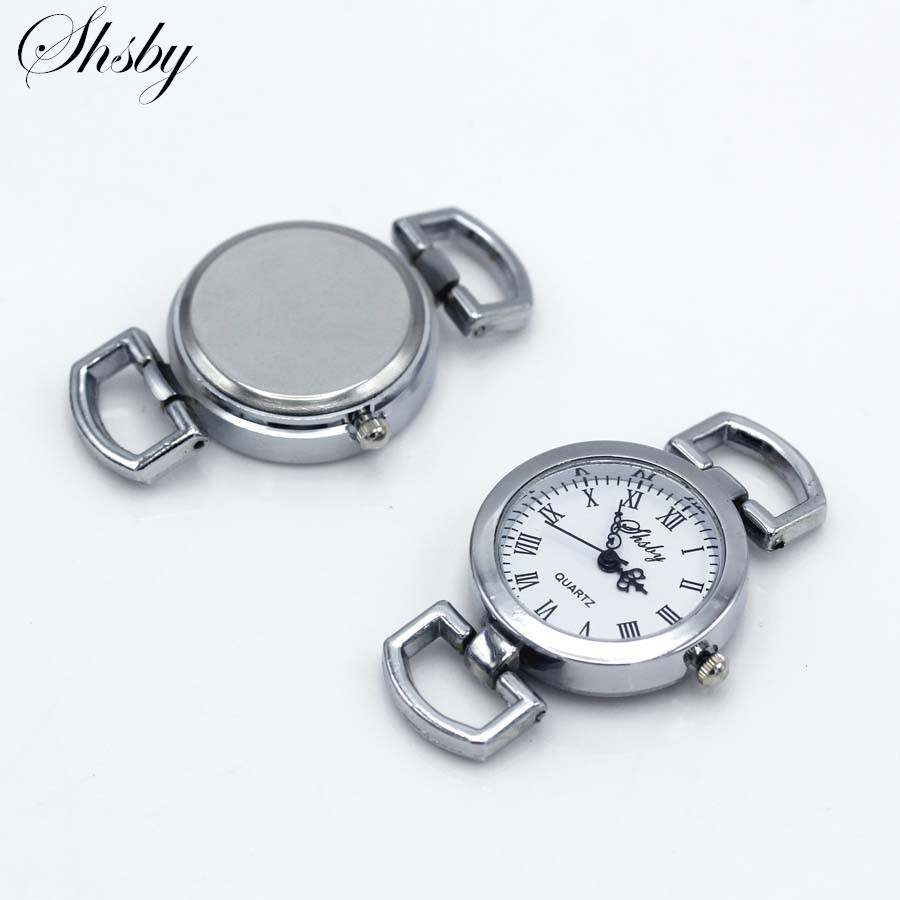 Shsby Diy Personality Silver Watch Header Roman Numerals Circle Watch Table Core Watchband Watch Accessories Wholesale