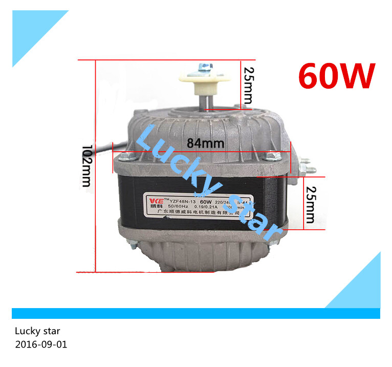 100% new for good working High-quality for Refrigerator motor freezer motor YZF48N-13 60W 220V whit Refrigerator air blade