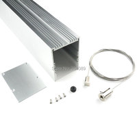 2m a lot, 1m per piece, wider and suspended led aluminum profiles channel for leds strips with milky diffuse cover
