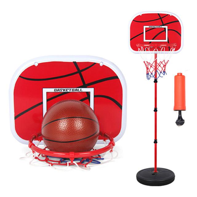 150 cm de Baloncesto Canasta de Baloncesto Deportes de Interior Al Aire Libre Niños Marco De Hierro Fundido Marco de Baloncesto Al Por Mayor de Elevación Con 2 Bolas