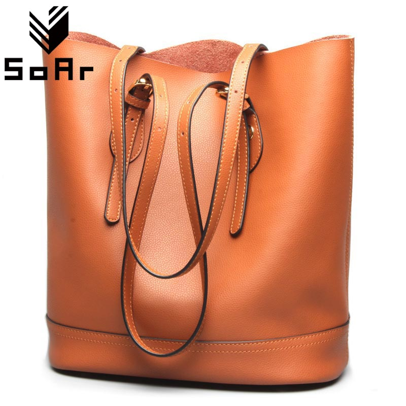 Designer Handbag Genuine Leather Female Fashion Real Leather High Quality Women Tote Bag Famous Brands Women Bag Bucket Bag new design women leather handbag genuine leather bag handbag sheepskin women famous brands designer high quality top handler bag