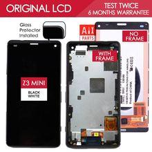 4.6 Дюймов Оригинальный IPS 1280x720 Дисплей Для SONY Xperia Z3 компактный Сенсорный ЖК-Экран Digitizer с Рамкой Z3 mini D5803 D5833(China (Mainland))