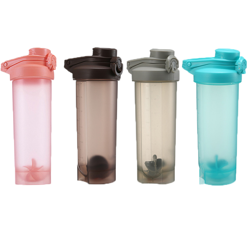 700 ml Sports Bottle Protein Shaker Water Leakproof Portable Large Capacity BPA Free with Handgrip for Camping