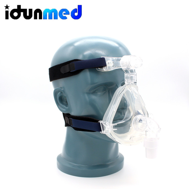 idunmed CPAP Full Face Mask With Forehead Adjustable Strap Clips For Mouth Nose Sleep Apnea Anti Snoring Treatment Solution 2