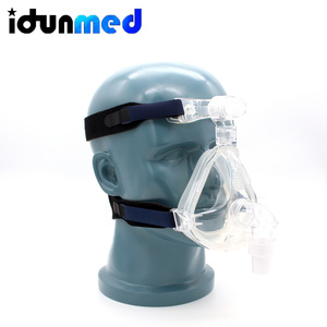 Image 2 - idunmed CPAP Full Face Mask With Forehead Adjustable Strap Clips For Mouth Nose Sleep Apnea Anti Snoring Treatment Solution