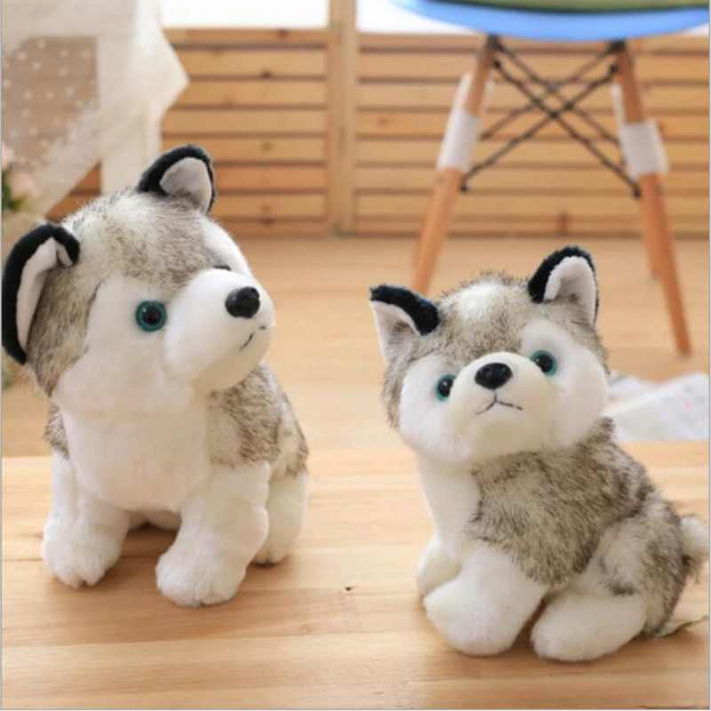 Carino Giocattoli di Peluche di Simulazione Husky 20/25 cm Farcito Bambole di Vita Reale Giocattoli di Peluche Per I Bambini Regali di Compleanno