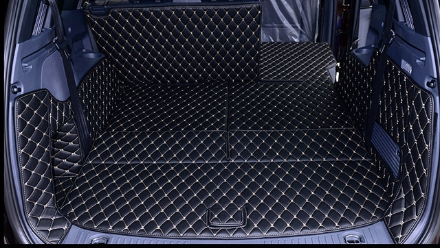 ¡De alta calidad! Juego completo de tapetes de maletero de coche para Ford Everest 7 asientos 2018-2016 alfombras de bota de carga impermeable para Everest 2017