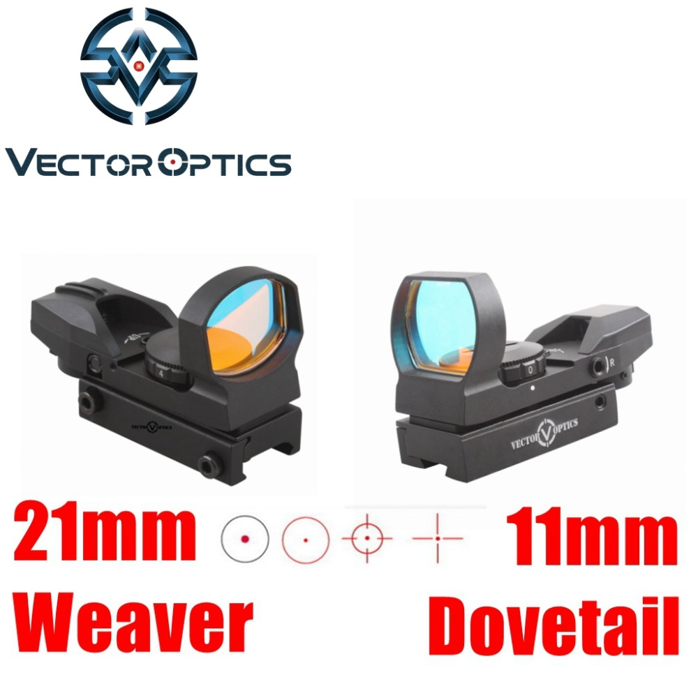 Vector Optics IMP 1x23x34 Multi Reticle Reflex Red Dot Scope Sight with 20mm Weaver or 11mm Dovetail Mount Base vector optics sphinx 1x22 mini reflex compact green dot sight scope very light with 20mm weaver mount base