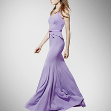 New Arrival Promotion Empire Sashes Regular Solid Silk Dresses Women Fashion Dress Long Put On A Large High-end Custom
