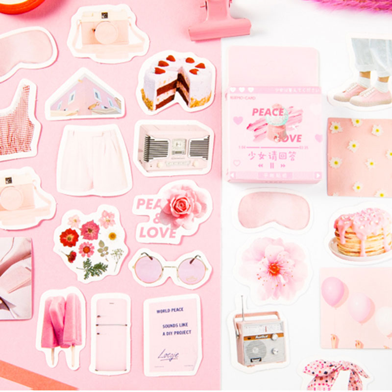 45Pcs/box Girl life Decoration Paper Sticker DIY Scrapbook Notebook Album Stationery Kawaii Stickers