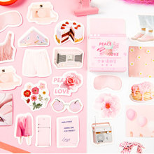 45Pcs/box Girl life Decoration Paper Sticker DIY Scrapbook Notebook Album Sticker Stationery Kawaii Girl Stickers lovedoki summer foil gold sticker alphabet words date notebook decorative stickers planner accessories scrapbook diy stationery