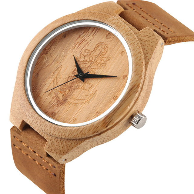 Mandala Bohemian Style Wooden Man Women Watches Exquisite Thailand Elephant Engraving Bamboo Wrist Watch Men Clock Xmas Gifts 3