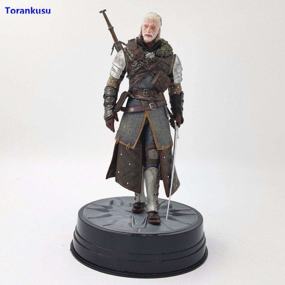 Cheval noir Deluxe The Witcher 3: chasse sauvage Geralt grand-maître Ursine Witcher PVC jouet Figurine de collection Figurine d'action XPC